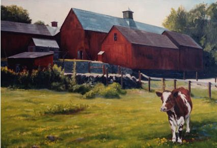 Original Oil Painting of Muscoot Farm, Westchester County, NY