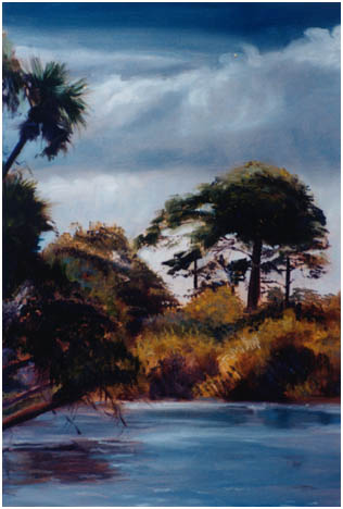 Original oil painting of the North Fork of the St. Lucie River