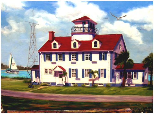Original oil painting of Old Coast Guard House, Fort Pierce, Florida